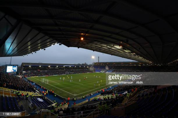 General view of action at the St Andrew's Trillion Trophy Stadium home stadium of Birmingham City and Coventry City during the FA Cup Fourth Round...
