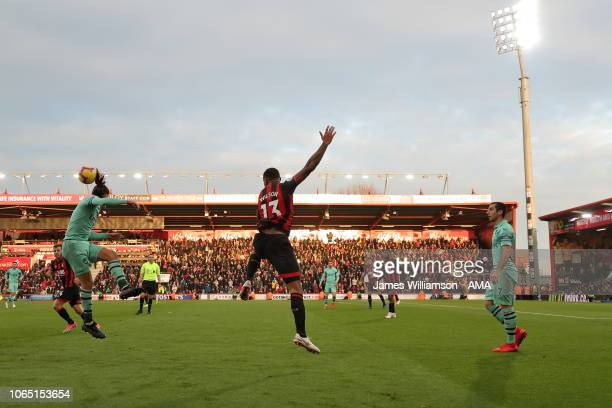A general view of action at the Vitality Stadium home stadium of AFC Bournemouth during the Premier League match between AFC Bournemouth and Arsenal...