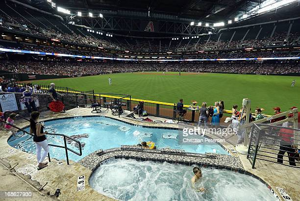 General view of action between the Arizona Diamondbacks and the Philadelphia Phillies during the MLB game at Chase Field on May 12, 2013 in Phoenix,...