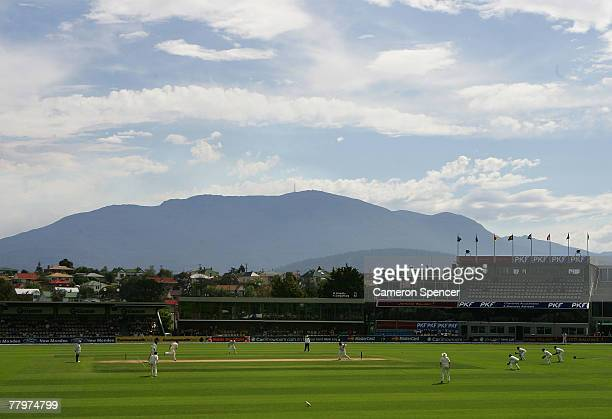 A general view of action during day four of the Second test match between Australia and Sri Lanka at Bellerive Oval on November 19 2007 in Hobart...