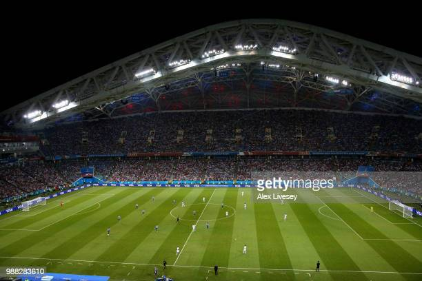 General view of action during the 2018 FIFA World Cup Russia Round of 16 match between Uruguay and Portugal at Fisht Stadium on June 30 2018 in Sochi...
