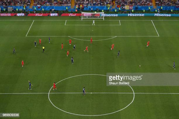 A general view of action during the 2018 FIFA World Cup Russia Round of 16 match between Belgium and Japan at Rostov Arena on July 2 2018 in...