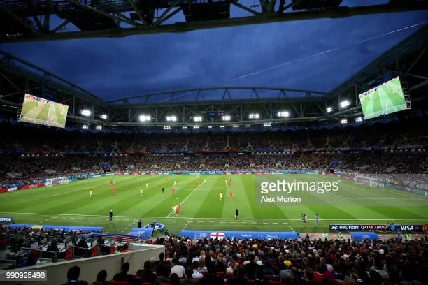 General view of action during the 2018 FIFA World Cup Russia Round of 16 match between Colombia and England at Spartak Stadium on July 3 2018 in...