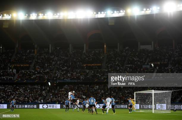 General view of action during the FIFA Club World Cup UAE 2017 final match between Gremio and Real Madrid at Zayed Sports City Stadium on December 16...
