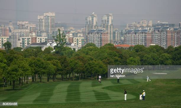General view of action during the first round of the BMW Asian Open at the Tomson Shanghai Pudong Golf Club on April 24, 2008 in Shanghai, China.