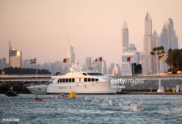 General view of action during the Ironman 703 Dubai 2018 on February 2 2018 in Dubai United Arab Emirates