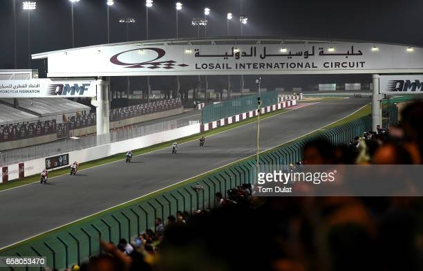 General view of action during the MotoGP of Qatar at Losail International Circuit on March 26 2017 in Doha Qatar