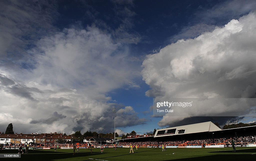 General view of action during the npower League Two match between Barnet and Plymouth Argyle at Underhill Stadium on October 13, 2012 in Barnet, England.