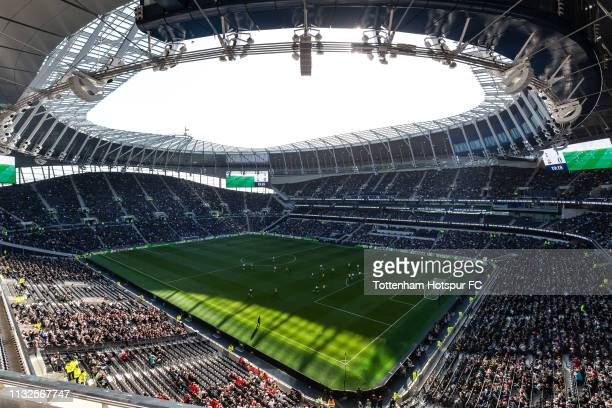 A general view of action during the U18 Premier League match between Tottenham Hotspur and Southampton at Tottenham Hotspur Stadium on March 24 2019...