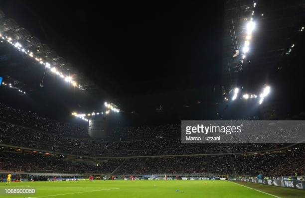 A general view of action during the UEFA Nations League A group three match between Italy and Portugal at Stadio Giuseppe Meazza on November 17 2018...