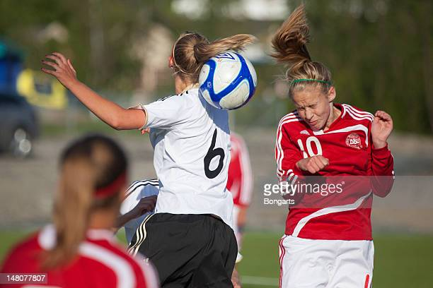 A general view of action during the Under 16 Girls Nordic Cup 2012 match between Denmark U16 and Germany U16 on July 9 2012 in Alta Norway