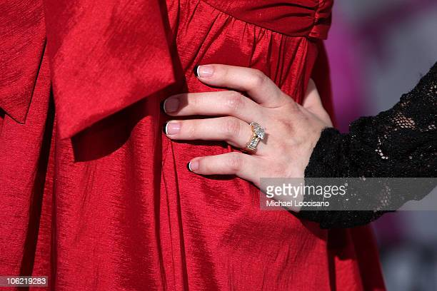 General view of actress Anna Maria Perez de Tagle's ring at the Disney Channel Premiere of Camp Rock on June 11 2008 at the Ziegfeld Theatre in New...