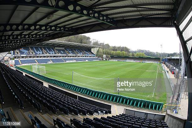 A general View of Adams Park prior to the npower League Two League match between Wycombe Wanderers and Northampton Town at Adams Parks on April 16...