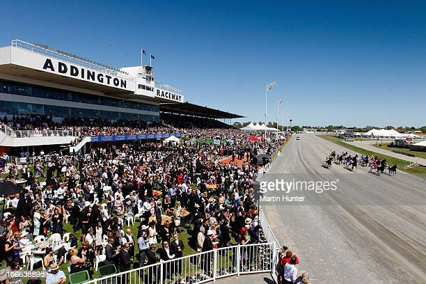 A general view of Addington Raceway during the Cromwell Lake Series Final race at Casino NZ Trotting Cup Day at Addington Raceway on November 9 2010...