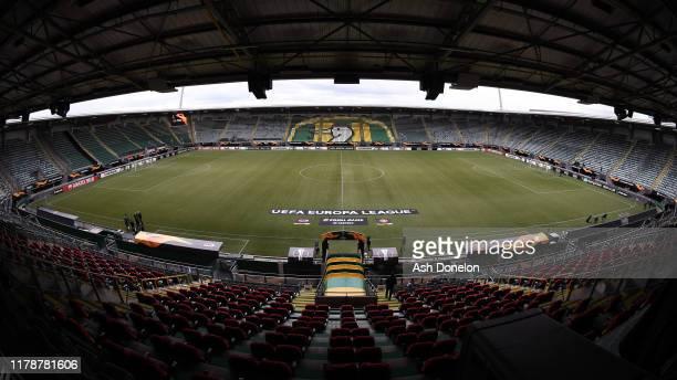 A general view of Ado Den Haag Stadium ahead of the UEFA Europa League group L match between AZ Alkmaar and Manchester United at ADO Den Haag stadium...
