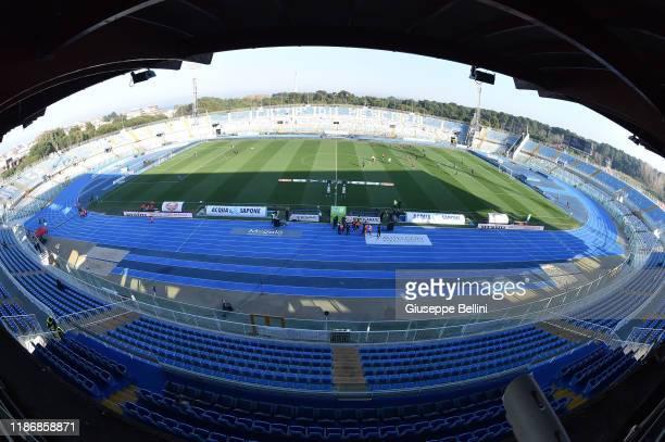 General view of Adriatico Stadium prior the Serie B match between Pescara Calcio and Venezia FC at Adriatico Stadium on December 7, 2019 in Pescara,...