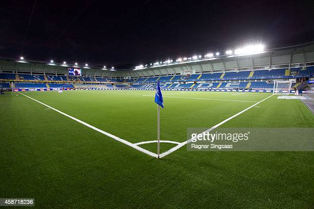General view of Aker Stadion prior to the Tippeligaen match between Molde FK and Odd Grenland on November 9 2014 in Molde Norway
