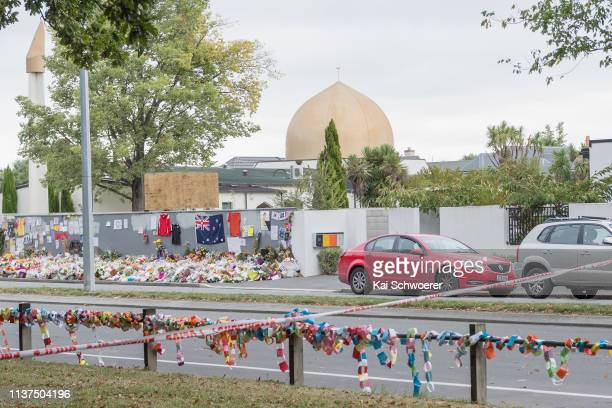 General view of Al Noor mosque prior to islamic prayers in Hagley Park near Al Noor mosque on March 22 2019 in Christchurch New Zealand 50 people...