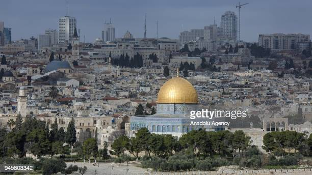 A general view of AlAqsa Mosque Compound is seen in Jerusalem on April 13 2018 Islamic scholars' call muslims to visit AlAqsa Mosque Compound