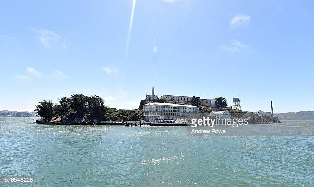 General view of Alcatraz during a visit to on July 22 2016 in San Jose California