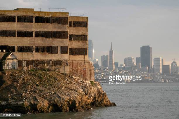 General view of Alcatraz Island showing the proximity to the San Francisco skyline on December 17 in San Francisco, California. Located in San...