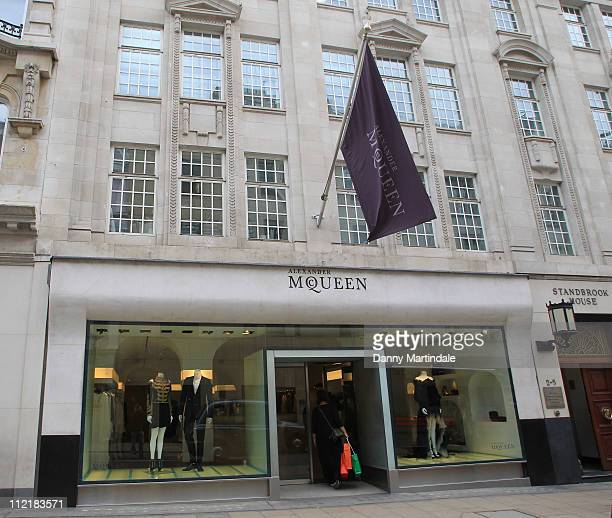 General view of Alexander McQueen store on Old Bond Street on April 14, 2011 in London, England. Alexander McQueen's creative director Sarah Burton...