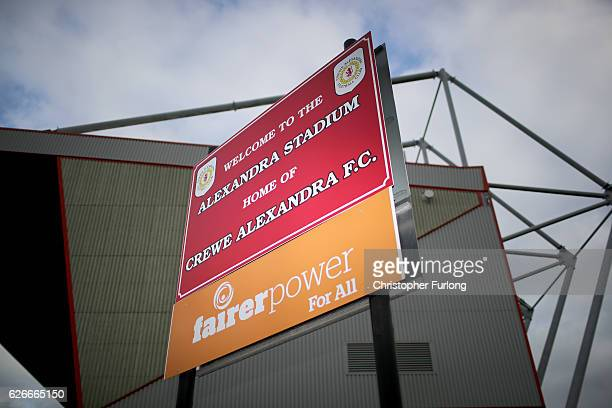 A general view of Alexandra Stadium Gresty Road the home of Crewe Alexandra Football Club on November 30 2016 in Crewe England Barry Bennell a former...