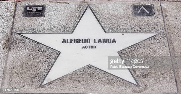 A general view of Alfredo Landa's star at the Walk of Fame on June 27 2011 in Madrid Spain