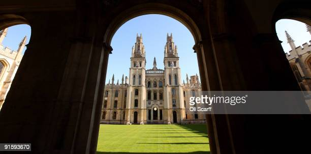 A general view of All Souls College in Oxford city centre as Oxford University commences its academic year on October 8 2009 in Oxford England Oxford...