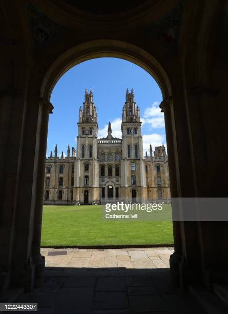 General view of All Souls College on May 02 2020 in Oxford England British Prime Minister Boris Johnson who returned to Downing Street this week...