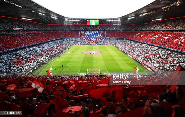 A general view of Allianz arena before the Bayern Muenchen v Manchester United Friendly Match at Allianz Arena on August 5 2018 in Munich Germany