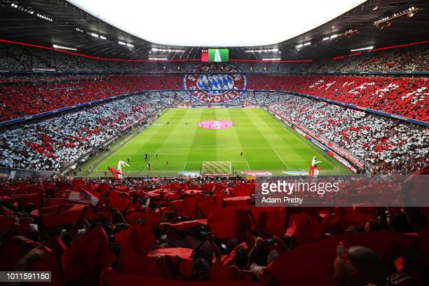 General view of Allianz arena before the Bayern Muenchen v Manchester United Friendly Match at Allianz Arena on August 5, 2018 in Munich, Germany.
