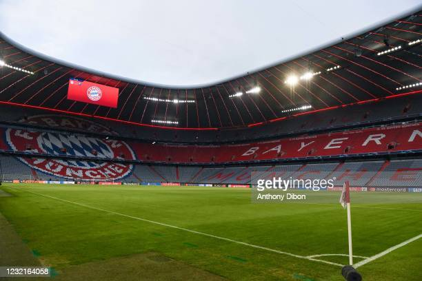 General view of Allianz Arena before the UEFA Champions League, Quarter Final First Leg match between Bayern Munchen and Paris Saint Germain at...