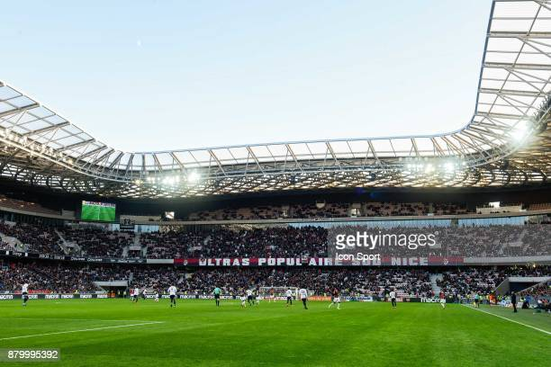 General view of Allianz Arena during the Ligue 1 match between OGC Nice and Olympique Lyonnais at Allianz Riviera on November 26 2017 in Nice