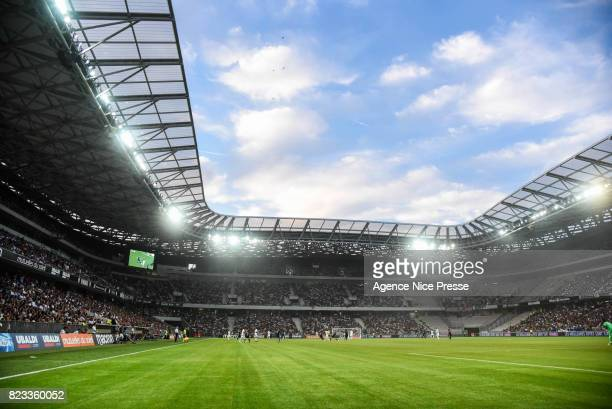 General view of Allianz Riviera of Nice during the UEFA Champions League Qualifying match between Nice and Ajax Amsterdam at Allianz Riviera Stadium...
