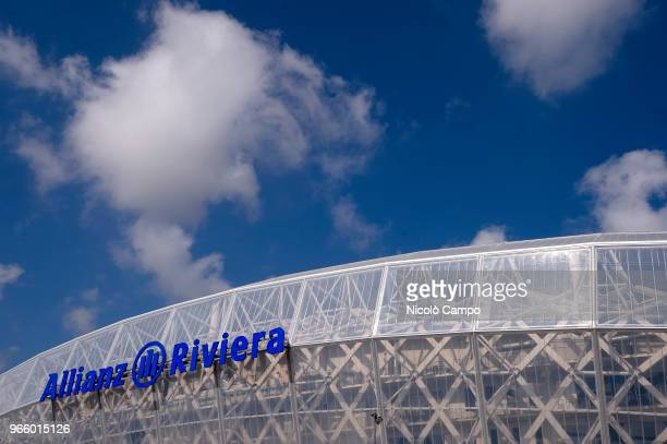 A general view of Allianz Riviera prior to the International Friendly football match between France and Italy France won 31 over Italy