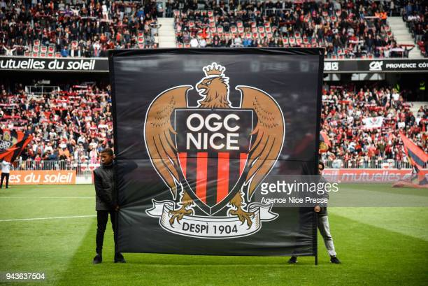 General view of Allianz Riviera stadium during the Ligue 1 match between OGC Nice and Stade Rennes at Allianz Riviera on April 8 2018 in Nice