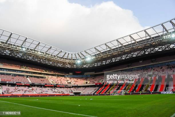General view of Allianz Riviera stadium during the Ligue 1 match between Nice and Amiens at Allianz Riviera on August 10, 2019 in Nice, France.