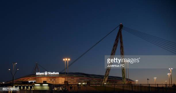 general view of Allianz Stadium ahead of the Serie A match between Juventus and ACF Fiorentina on September 20 2017 in Turin Italy