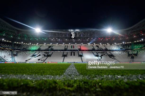 General view of Allianz Stadium before the Group H match of the UEFA Champions League between Juventus and Manchester United at on November 7 2018 in...