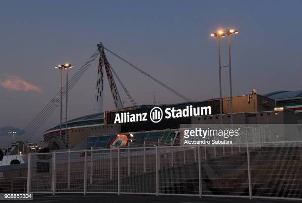 A general view of Allianz Stadium before the Serie A match between Juventus and Genoa CFC on January 22 2018 in Turin Italy