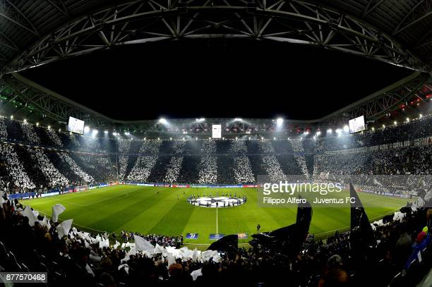 General view of Allianz Stadium before the UEFA Champions League group D match between Juventus and FC Barcelona at Allianz Stadium on November 22...