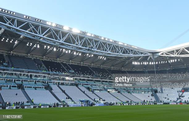 General view of Allianz Stadium during the Serie A match between Juventus and Cagliari Calcio at Allianz Stadium on January 6, 2020 in Turin, Italy.