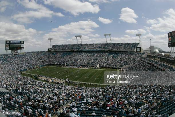 General view of ALLTEL Stadium during the game between the Jacksonville Jaguars and the Denver Broncos on September 19 2004 in Jacksonville Florida...