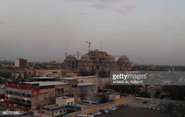 A general view of alMansour district in the Iraqi capital Baghdad shows the uncompleted alRahman mosque on May 26 2016