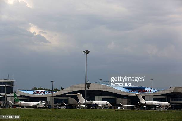 A general view of Almaty airport on July 15 2016 Air Astana is the principal airline and the flag carrier of Kazakhstan / AFP / PATRICK BAZ