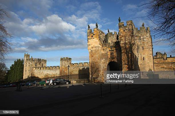 A general view of Alnwick Castle before the the wedding of Katie Percy to Patrick Valentine at St Michael's Church in Alnwick Northumberland on...