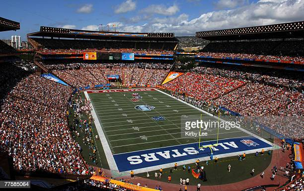 General view of Aloha Stadium during the NFL Pro Bowl in Honolulu HI on Saturday February 10 2007