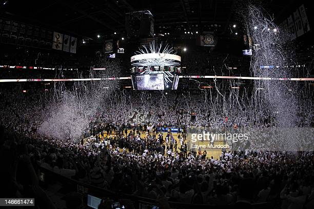 General view of American Airlines Arena after the Miami Heat defeated the Oklahoma City Thunder in Game Five of the 2012 NBA Finals at American...