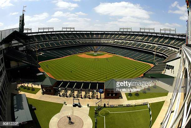 A general view of Ameriquest Field in Arlington on May 7 2004 in Arlington Texas The Texas Rangers and Ameriquest Mortgage Company announced a 30year...